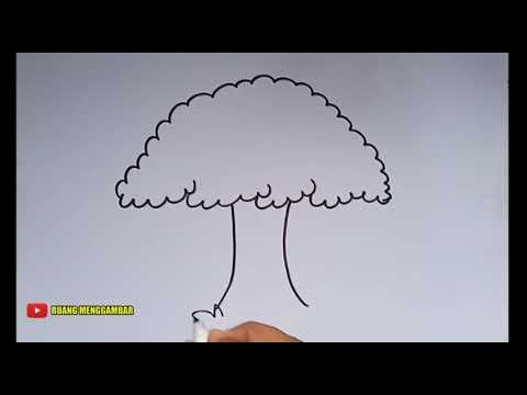 Cara Menggambar Pohon Beringin Youtube