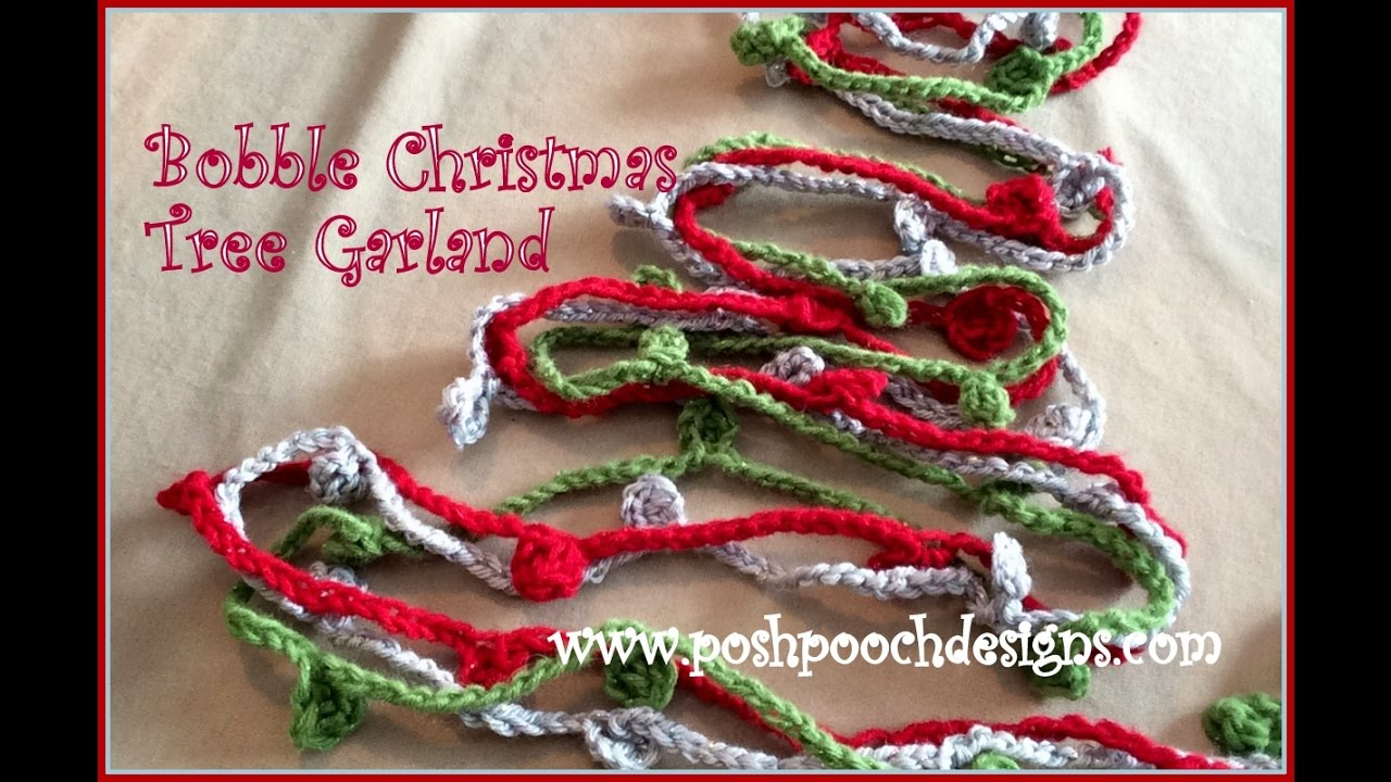 Bobble Christmas Tree Garland Crochet Pattern