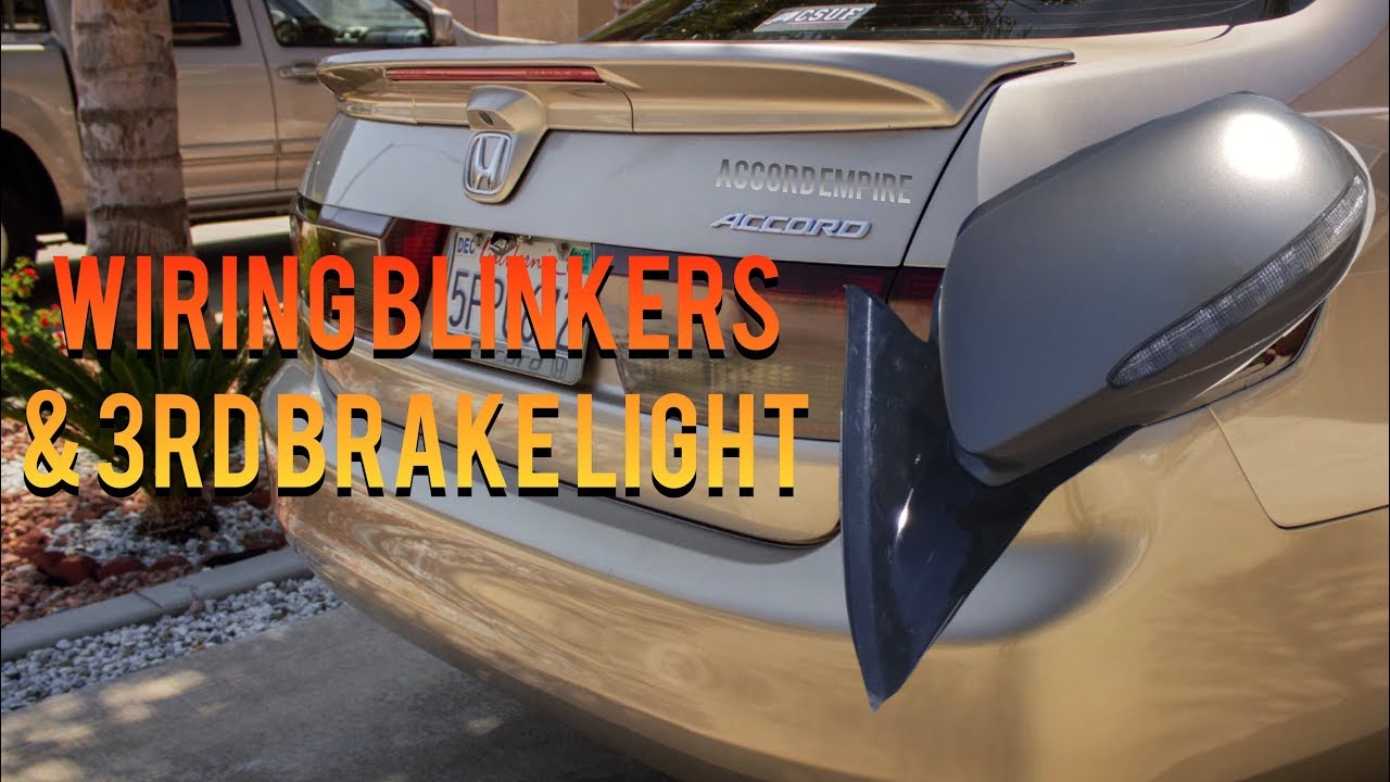 How To Wire Uc1 Side Mirrors And Third Brake Light On Honda Accord