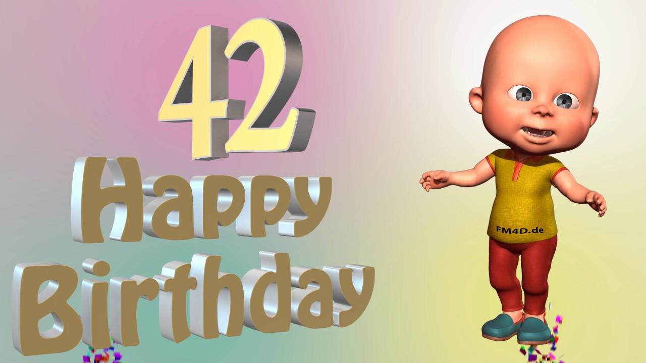Alles Gute Zum 42 Geburtstag 42 Jahre Geliebt Zeigen Sie Ihre