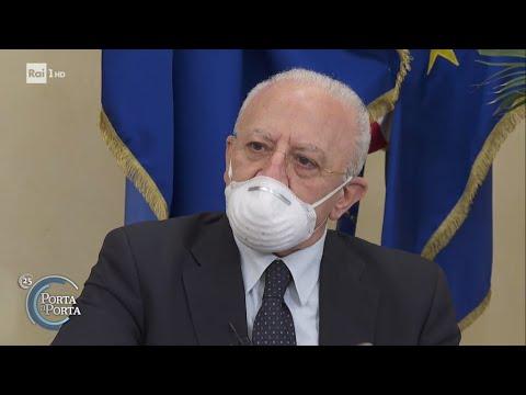 Vaccino Covid, intervista a Vincenzo De Luca - Porta a porta 13/04/2021