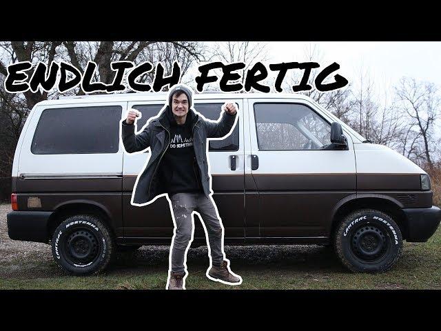 DIE LACKIERUNG VOM VW BUS IST ENDLICH FERTIG! | F.15 Umbau 2.0