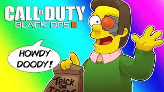 Black Ops 3 Zombies Funny Moments - Terroriser's Hell is a Simpsons Map