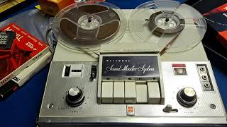 National RQ-705 Reel to Reel Tape Player and Recorder. Circa 1964. Song: Hawaii. Beach Boys.