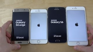 samsung galaxy s6 edge vs iphone 6 vs samsung galaxy s6 vs iphone 6 plus which is faster