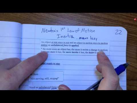 22   Newton's 1st Law   Inertia
