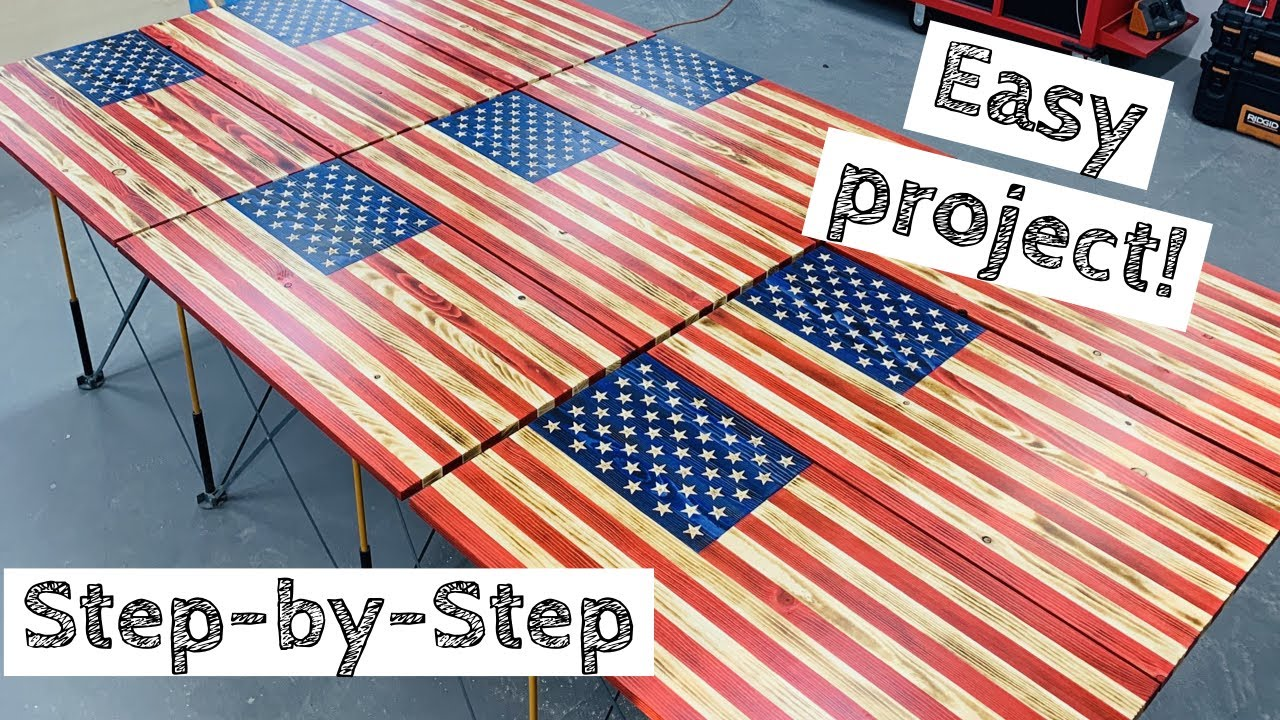 Most In Depth Wood American Flag Build Make Money