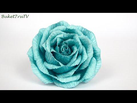 Очень просто РОЗА из гофрированной бумаги ☆ Мастер класс Бумажные розы ☆  Поделки своими руками