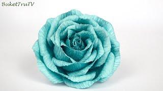 как сделать цветы из гофрированной бумаги видео поэтапно
