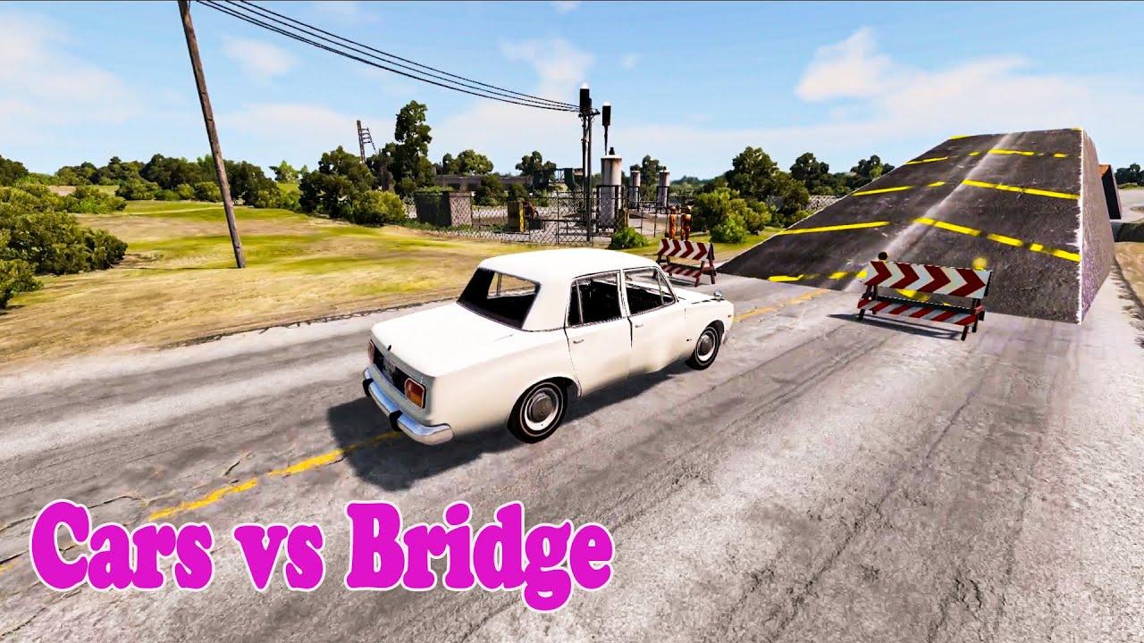 Cars vs Bridge -  BeamNG Driver Challenges #8