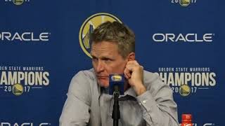 Golden State Warriors coach Steve Kerr on lack of conditioning