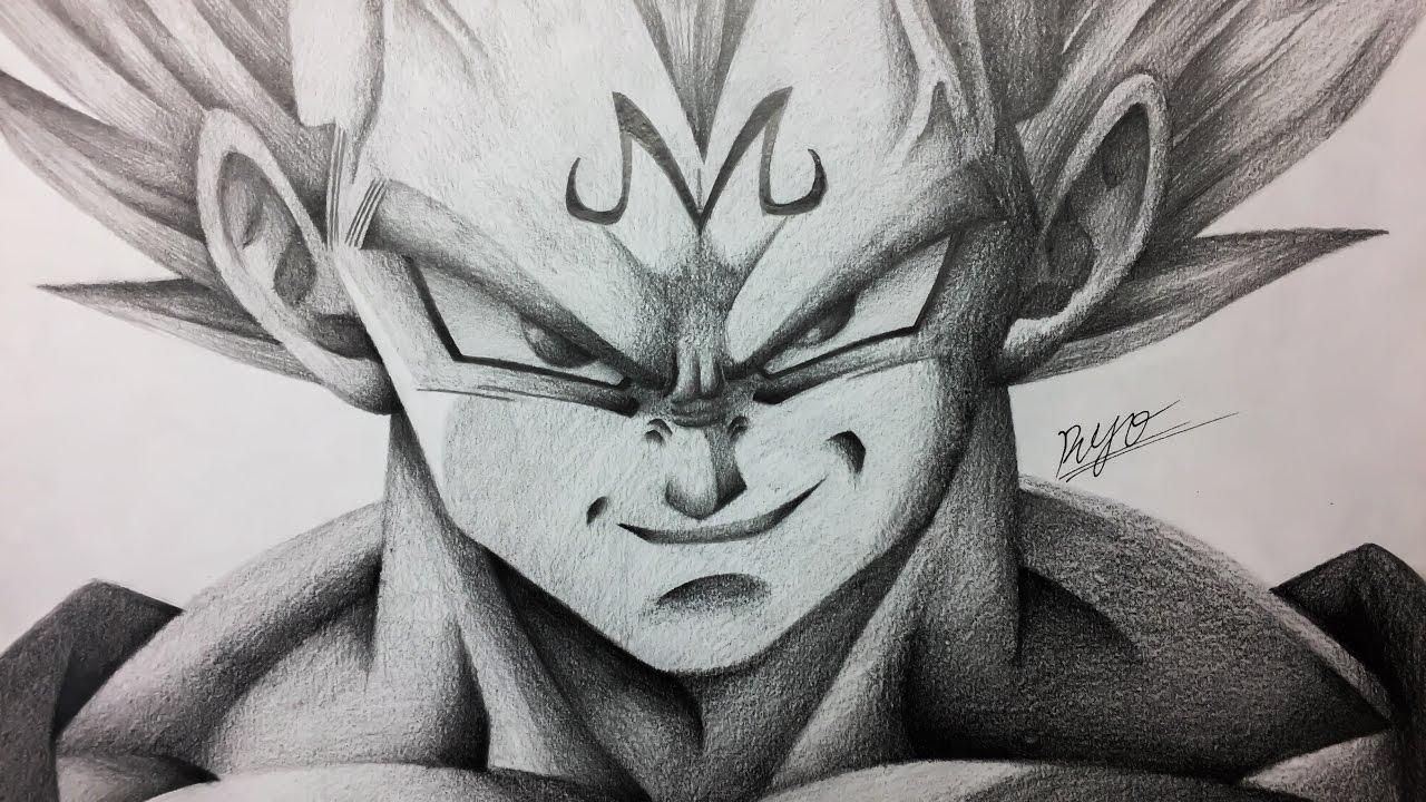 魔人ベジータ 描いてみた/Drawing Majin Vegeta