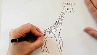 Zürafa resmi nasıl çizilir