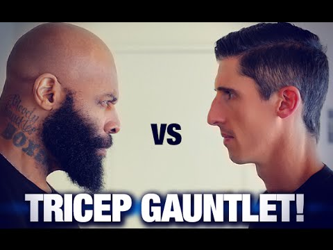 Triceps Workout - 200 Reps (CAVALIERE VS. CT FLETCHER!)