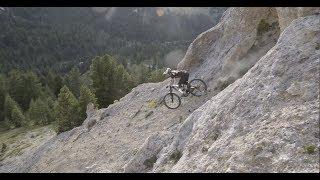 """""""Flowy ridge"""" ride in French Alps"""
