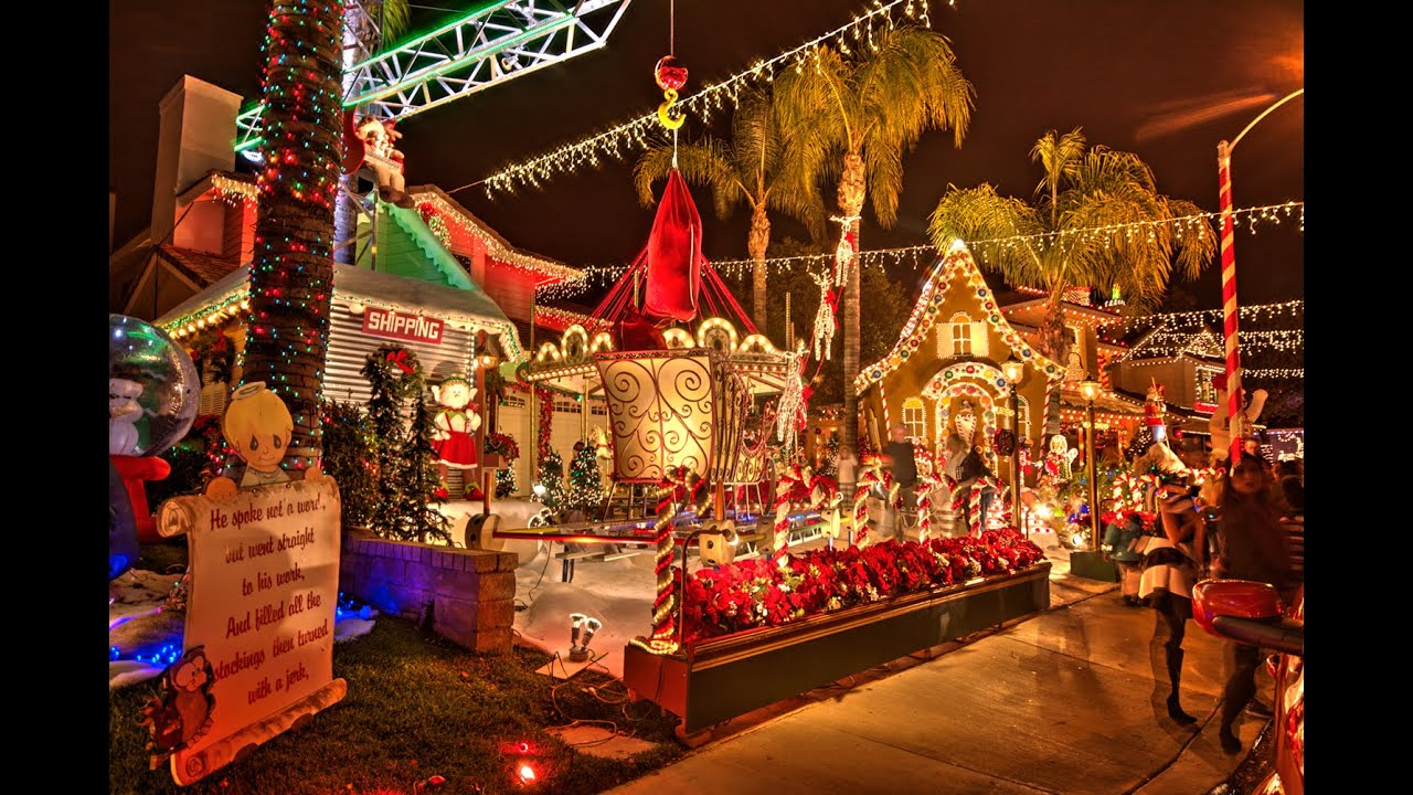 santa clarita christmas lights tour candy cane lane 2014 youtube