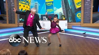 Watch: Grandfather and granddaughter are the cutest tap dancing duo