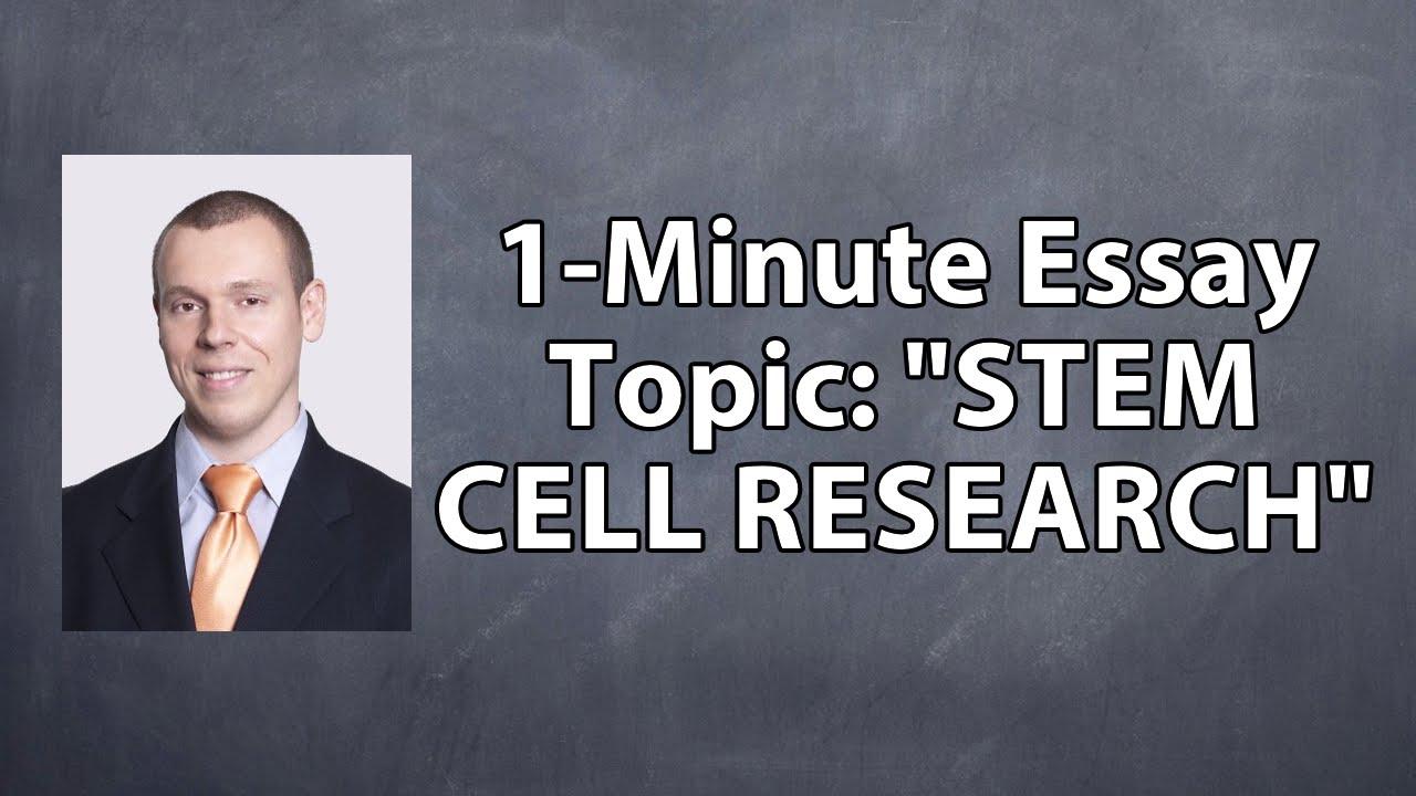 Stem cell essay