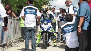 Valentino Rossi in the Philippines! Yamaha Sniper MX 135