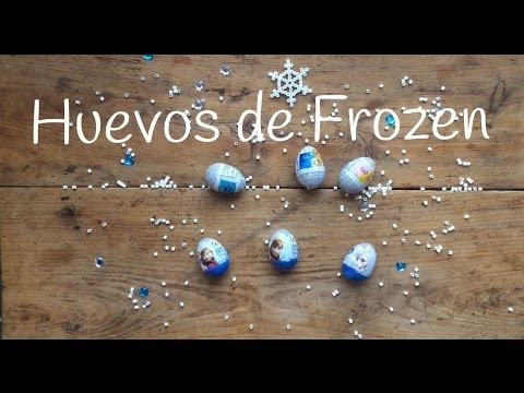 Huevos kinder de Frozen en español, abrid con nosotros la diversión para los peques