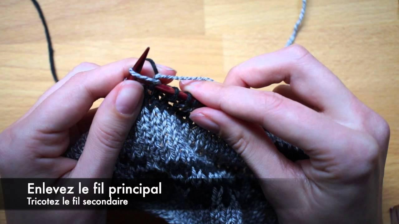 comment faire jacquard au tricot