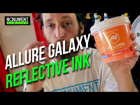 Screen Print Product Review: Allure Galaxy Relective Ink, 2 Color Water Based Print job.