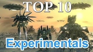 TOP 10 Most Powerful Experimentals Units - Supreme Commander 2
