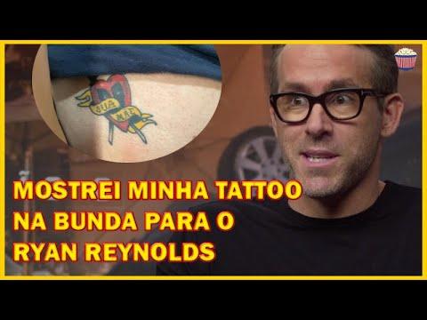 Mostrando a tatuagem de Deadpool na bunda para o Ryan Reynolds - Esquadrão 6