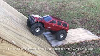 Scale Tire test using a wood ramp with the top at 60 degrees