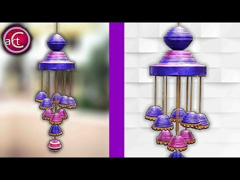 Newspaper wall hanging | Newspaper wind chime | best out of waste | Art with Creativity 232
