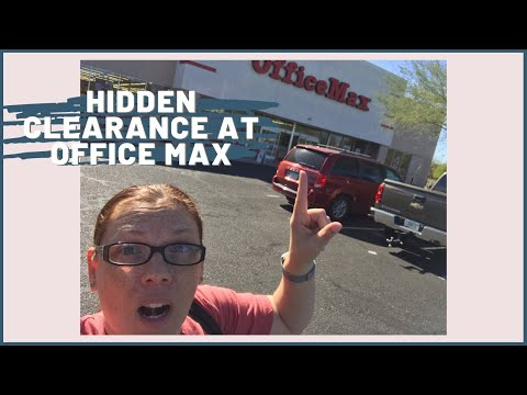 Office Max Office Depot Hidden Secret Clearance | Shop with Me for Deals