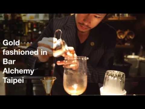 Gold Fashioned in Bar Alchemy Taipei by Angus Zou