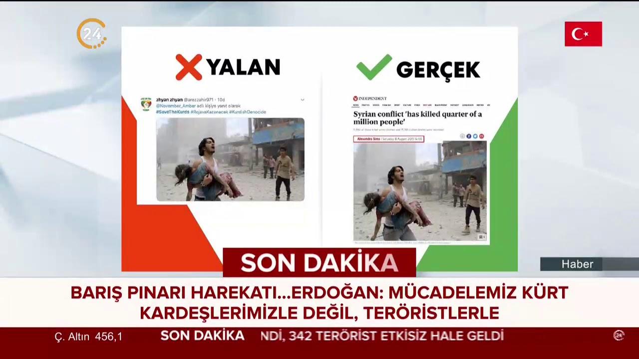 Barış Pınarı'nda terör destekçilerinin yaydığı manipülatif fotoğraf ve gerçekleri