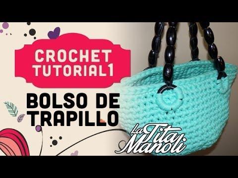 Crochet bolso de trapillo youtube for Bolso crochet trapillo