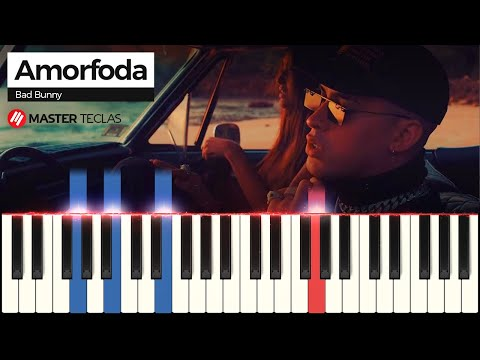 💎💎💎Como tocar Bad Bunny - Amorfoda (Piano tutorial)💎💎💎