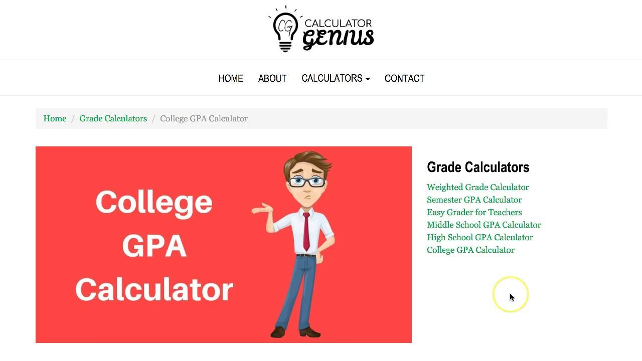 College GPA Calculator - YouTube