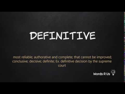 How to Pronounce DEFINITIVE in American English