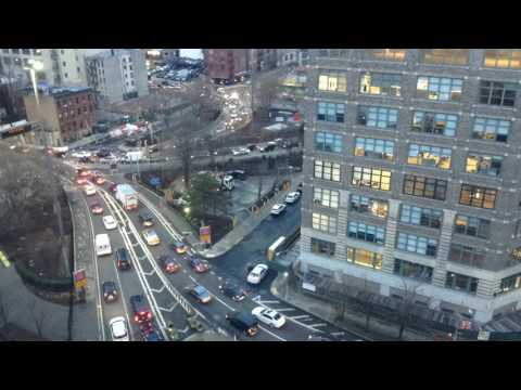 Holland Tunnel - Traffic During Rush Hour - NYC side entering tunnel 1080p