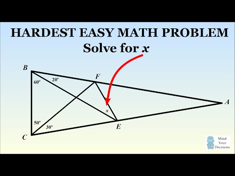 Can You Solve The Hardest Easy Geometry Problem?