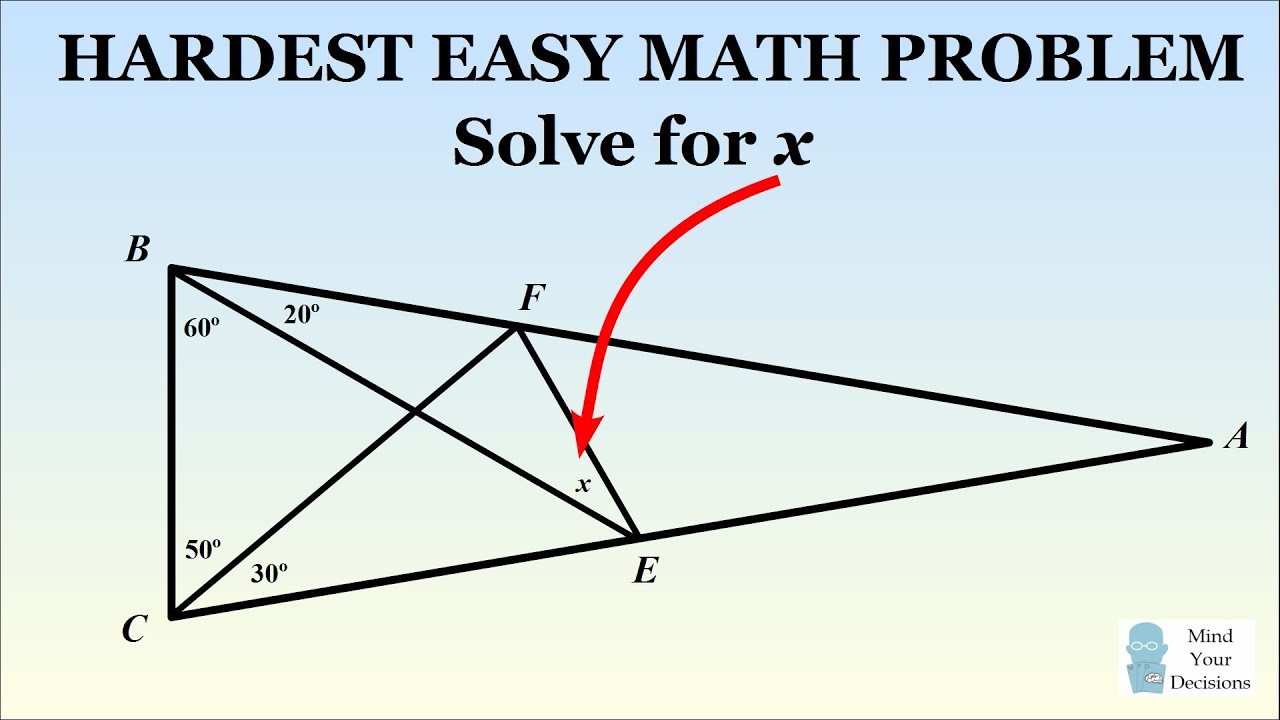 hight resolution of how to solve the hardest easy geometry problem