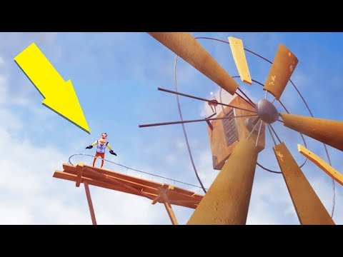 Climbing to the Top of the Windmill and Frozen Globe Puzzle! - Hello Neighbor Beta 3 Gameplay