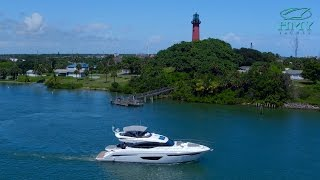 Drone Video of New 2017 Princess Yachts S65 In Jupiter, FL