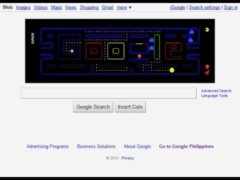Playing PAC-MAN On Google's Homepage