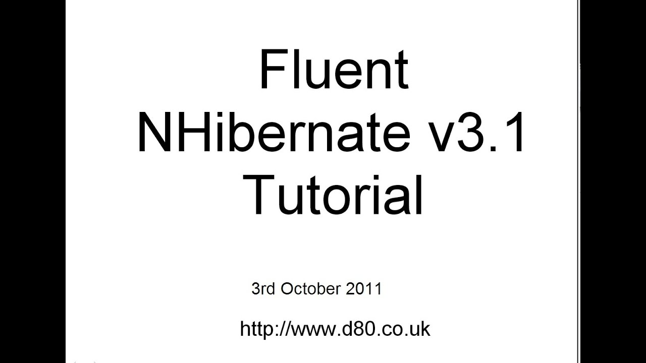 FLUENT NHIBERNATE TUTORIAL PDF