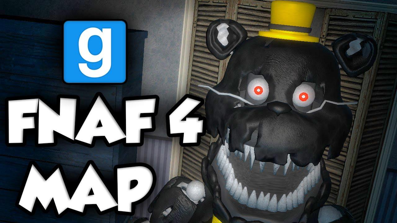 NIGHTMARE & FNAF 4 HOME - (Gmod FNAF Sandbox Funny Moments) Garry's Mod
