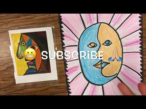How to make a Picasso FACE - Easy diy Pablo Picasso Project for kids - draw faces - Mr. Schuette