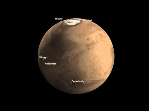 NASA   Mars Landing Sites