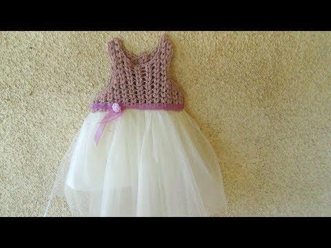 9323be905a15 Φορεματάκι πλεκτό Β μέρος! - YouTube