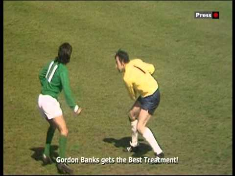 Northern Ireland 0  1 England  George Best's disallowed goal.