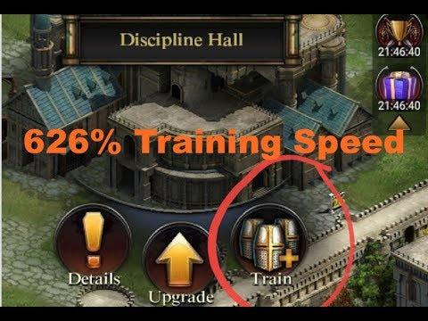 Clash Of Kings : 626% Training Speed - Training Supreme & Elite Troops Faster